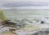 Bonchurch Beach, Isle of Wight No.3 by Joanna Brendon, Painting, Mixed Media on paper