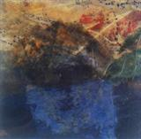 Coniston Water by Joanna Brendon, Painting, encaustic mixed media