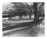 Frosty Morning by Joanna Brendon, Drawing, Charcoal on Paper