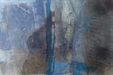 Grizedale No.1 by Joanna Brendon, Painting, encaustic mixed media with collage