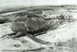 Harvest, Folkington No.1 by Joanna Brendon, Drawing, Charcoal on Paper