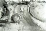 Harvest, Folkington No.4 by Joanna Brendon, Drawing, Charcoal on Paper