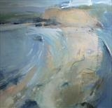 Hive Beach, Dorset No.2 by Joanna Brendon, Painting, Oil on canvas