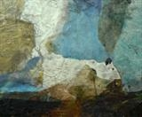 Incoming by Joanna Brendon, Painting, Mixed Media with wax and collage