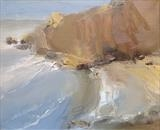 Jurassic Coast No.1 by Joanna Brendon, Painting, Oil on Linen