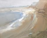 Jurassic Coast No. 2 by Joanna Brendon, Painting, Oil on Linen