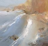 Jurassic Coast No.3 by Joanna Brendon, Painting, Oil on canvas