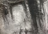 Lake Reflections 1 by Joanna Brendon, Drawing, Charcoal on Paper