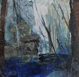 Northern Gardens, Winter No.1 by Joanna Brendon, Painting, encaustic mixed media