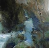 River Erme by Joanna Brendon, Painting, Oil on canvas