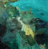 Rockpool No.1 by Joanna Brendon, Painting, Mixed Media on paper