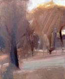 Soft Day, Richmond Park 2 by Joanna Brendon, Painting, Oil on Linen