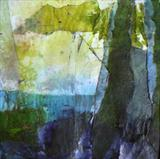 Sunlit Tree, Coniston Water by Joanna Brendon MA, Painting, Mixed Media on paper