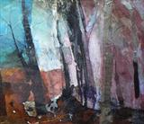 WALKING TO ELSIE, No.2 by Joanna Brendon MA, Painting, Mixed Media on Canvas