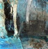 WINTER, BRANTWOOD No.3 by Joanna Brendon MA, Painting, Mixed Media on paper