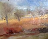Walking in Richmond Park 2 by Joanna Brendon, Painting, Oil on Paper