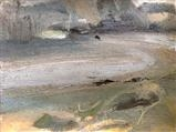 Wonwell Beach by Joanna Brendon, Painting, Oil on Paper